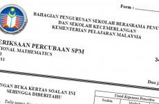 Koleksi Kertas Soalan Percubaan SPM 2020