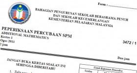 Koleksi Soalan Percubaan SPM Negeri 2011