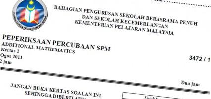 Koleksi Kertas Soalan Percubaan SPM 2018