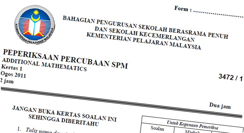 Read More On Spm Tips Spm 2013 Trial Papers Collection Koleksi